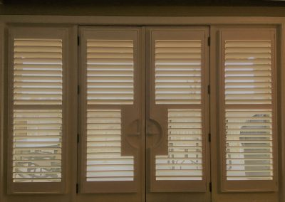 Norman Shutters, French Door Cutouts with Companion Doors, Alta Mira Condos, Overland Park, KS